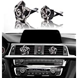 Bling Car Decor Auto Air Vent Clip Charms Crystal Interior Car Accessory Auto Decoration Charms Car Bling Accessories (Black