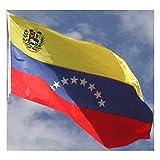 国旗 ベネズエラ ボリバル 共和国 90cmx150cm 特大フラッグ【ノーブランド品】