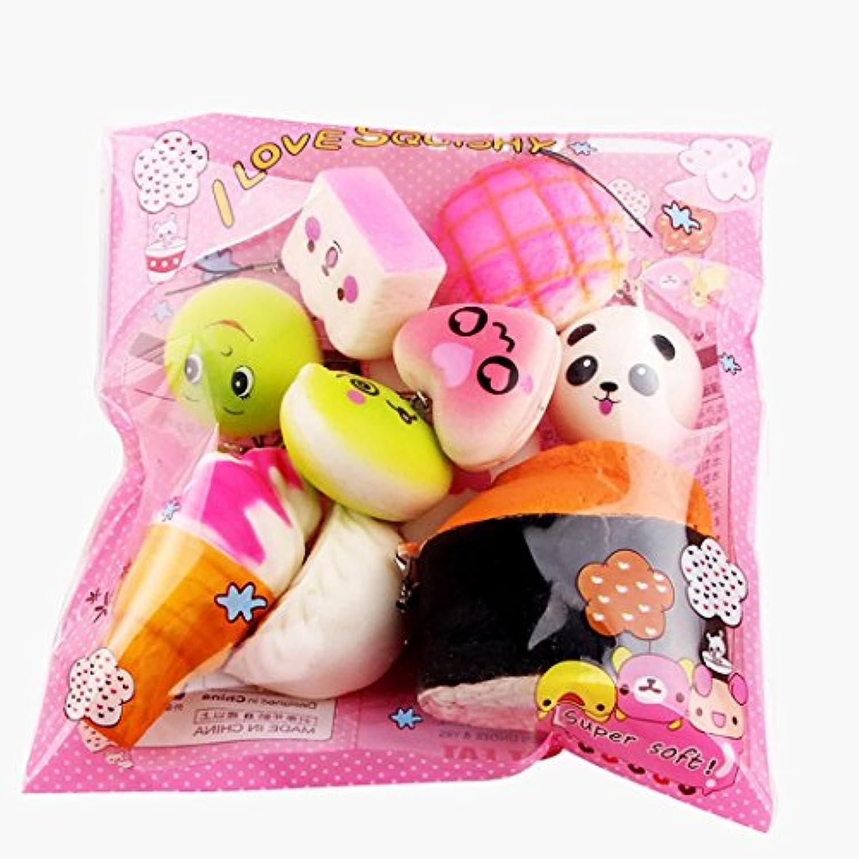ストレス緩和スクイーズ玩具、putars 15pcs絶妙なソフトキュートDecompression Anxiety Relieving Breadおもちゃ、スーパーSlow Rising、子供のための素晴らしいギフト&大人