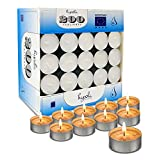 Hyoola Tea Lights Candles - 200 Bulk Candles Pack - Natural Palm Oil Tea Light - European Quality White Unscented Tealight Candles - 4 Hour Burn Time