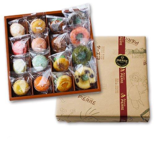 池ノ上ピエール 彩り焼き菓子セット (16個入) オリジナルマカロン・焼きドーナツ ドゥミセック 【シルバー16】