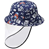Toddler Bucket Hat Removable Face Shield Hat Cap for Baby Boys Girls Sun Hat UPF50 Anti Spitting Outdoor for Kids