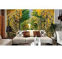 Chunxd 住宅の装飾壁紙 カスタム壁紙現代森林公園3D立体風景壁紙3D壁画壁紙-200X140Cm