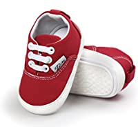 Meckior Baby Girls Boys Canvas Shoes Soft Sole Toddler First Walker Infant Sneakers Newborn Crib Shoes