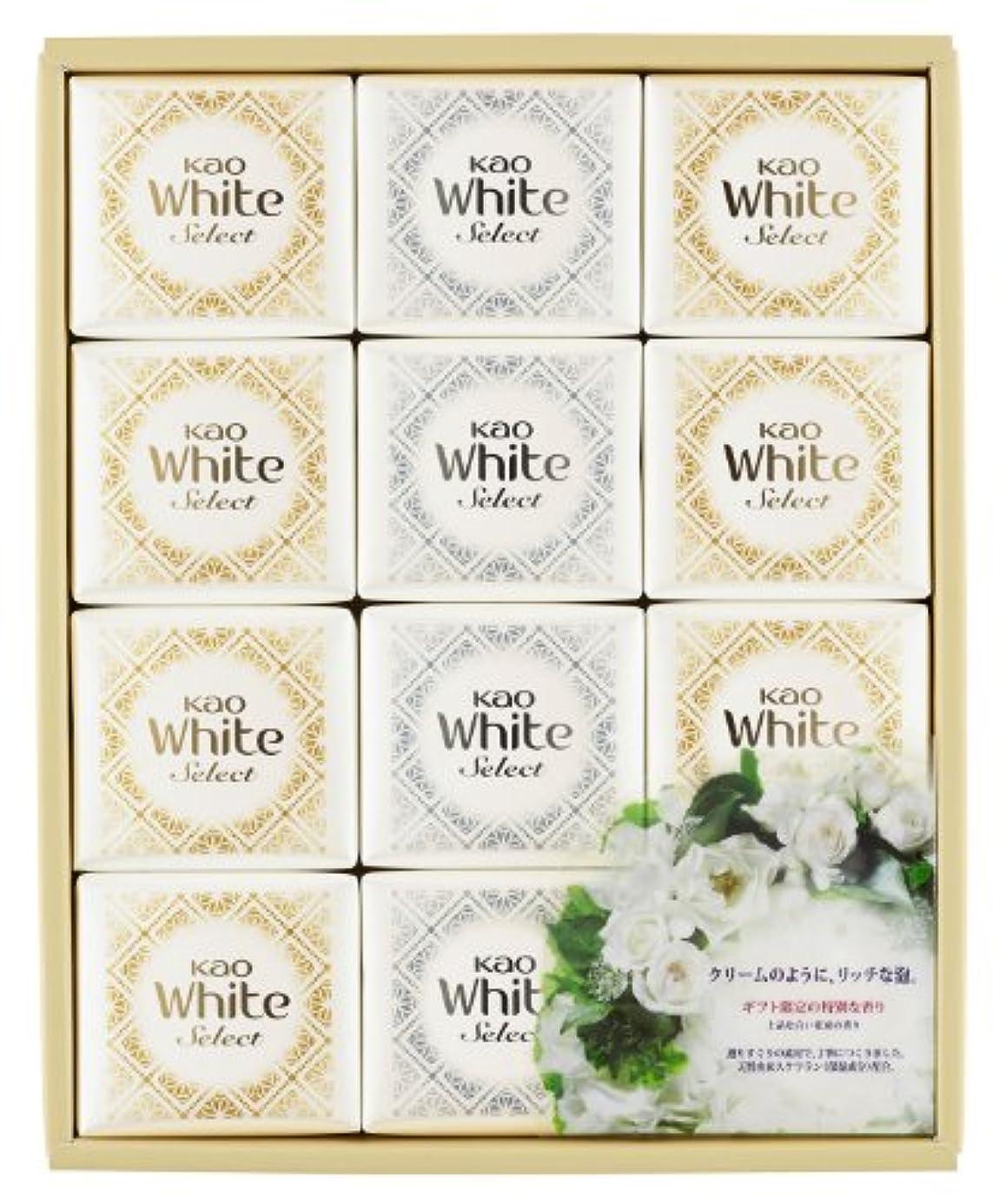 スキニー篭全体に花王ホワイト セレクト 上品な白い花束の香り 85g 12コ K?WS-20