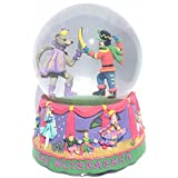 Battle Scene Snow Globe Plays The Nutcracker Suite March by Tchaikovsky Whimsical 100mm Musical Glitterdome [並行輸入品]