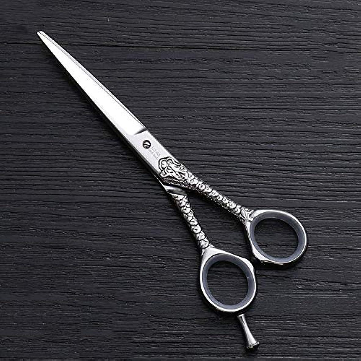 水族館小数心理的理髪用はさみ ハイエンドのパーソナライズされたプロのバリカン、6.0インチストレートカット理髪はさみヘアカットはさみステンレス理髪はさみ (色 : Silver)