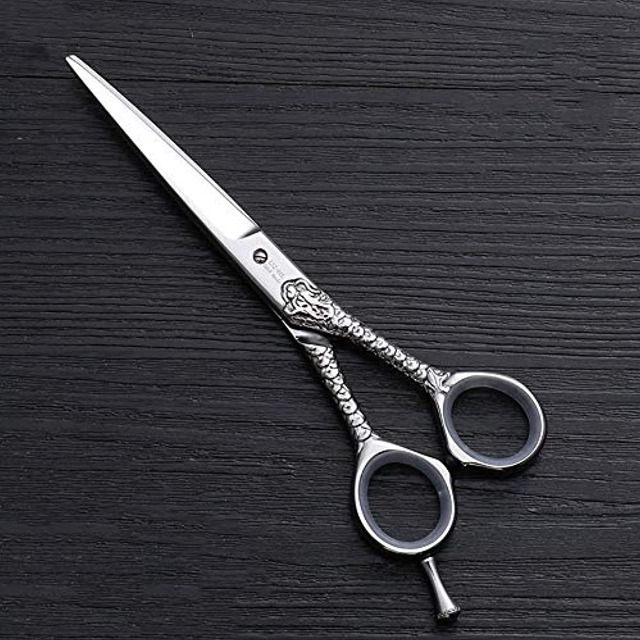 小道具かりて導出理髪用はさみ ハイエンドのパーソナライズされたプロのバリカン、6.0インチストレートカット理髪はさみヘアカットはさみステンレス理髪はさみ (色 : Silver)