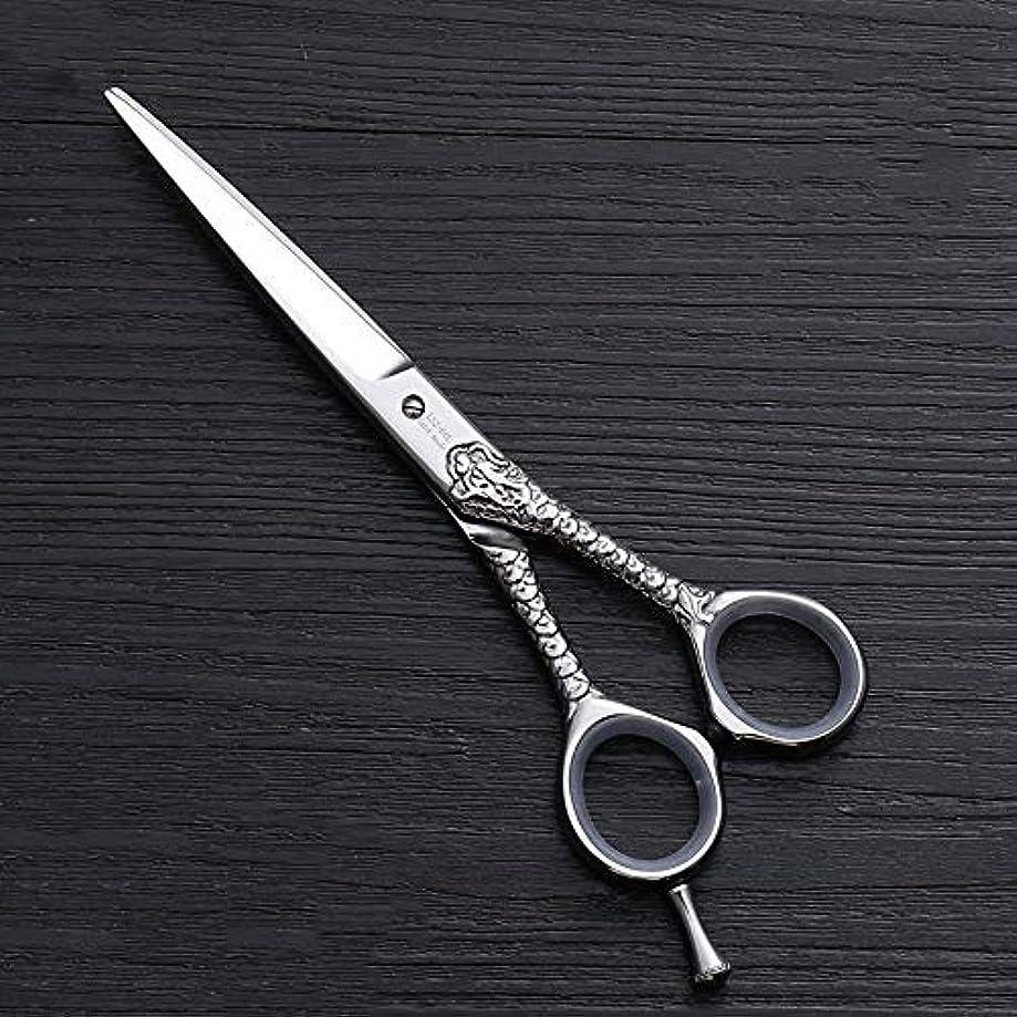 細い促進する不良ハイエンドのパーソナライズされたプロのバリカン、6.0インチストレートプロのカット理髪はさみ ヘアケア (色 : Silver)