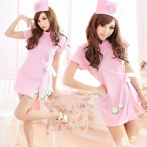 あんたも今日からナース!! コスプレ/衣装/仮装 ナース服/ナースキャップ ピンク
