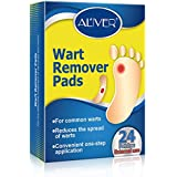 Wart Remover, Corn Remover Pads, Removal Plaster Wart Foot Corn, Painlessly Removes Common and Plantar Warts, Callus, Stops Wart Regrowth 24Pcs