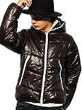 (エイト) 8(eight)12color 中綿 ダウンジャケット ナイロン ブルゾン アウター 防寒 アウトドア ブラウン L