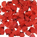 cnomg バラ 造花 薔薇の造花 結婚式 誕生日 お祝い 飾り2000枚 (赤)
