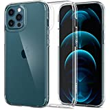 Spigen [Ultra Hybrid] iPhone 12 Pro Max Case Cover with Hard PC Back and Shockproof Bumper Designed for iPhone 12 Pro Max 6.7 inch (2020) - Crystal Clear
