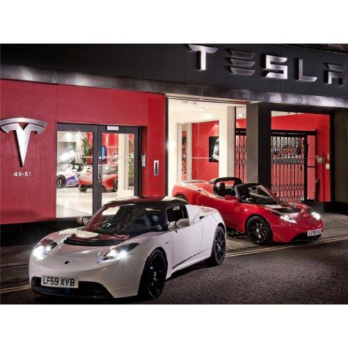 Teslaロードスターポスターbyシルク印刷#サイズについて( 80cm ...