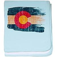 CafePress – コロラド州フラグ – スーパーソフトベビー毛布、新生児おくるみ ブルー 064619817025CD2