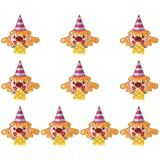 Amosfun Kids Noisemakers Musical Blow Outs Whistles Toys for Kids Birthday Celebration Party 10Pcs (Yellow)