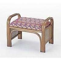 ご仏前 金襴座椅子 ハイタイプ 座面高:31cm 《ミガロ自然素材 ラタン?籐 C14》