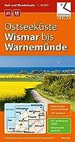 Ostseekueste Wismar bis Warnemuende 1 : 40 000 Rad- und Wanderkarte: GPS geeignet, Erlebnis-Tipps auf der Rueckseite