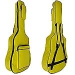 EFFECT 軽量 ギター ケース ギグ バック ソフト タイプ クッション 付 リュック 型 アコースティック ギター 対応 (黄色)