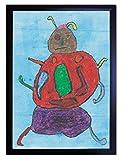 【DXポスター】子供地球基金のアートポスター フレーム付き  カブトムシ  インテリア 壁飾り  P-A2-KEF-R-11-0000-bk P-A2-KEF-R-11-0000-bk