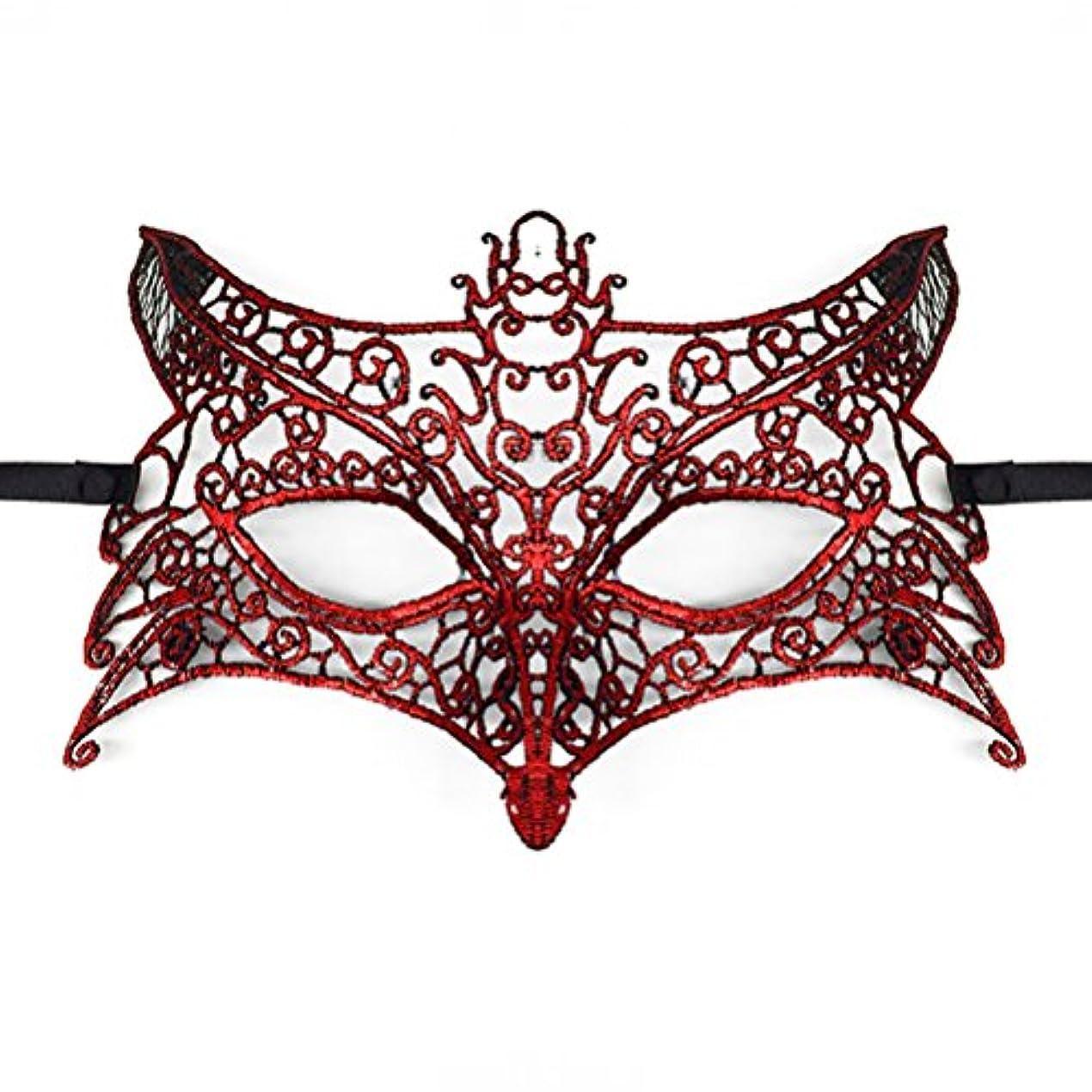 Toyvian ハロウィーンパーティー用レースマスカレードマスク(ウルフヘッド)