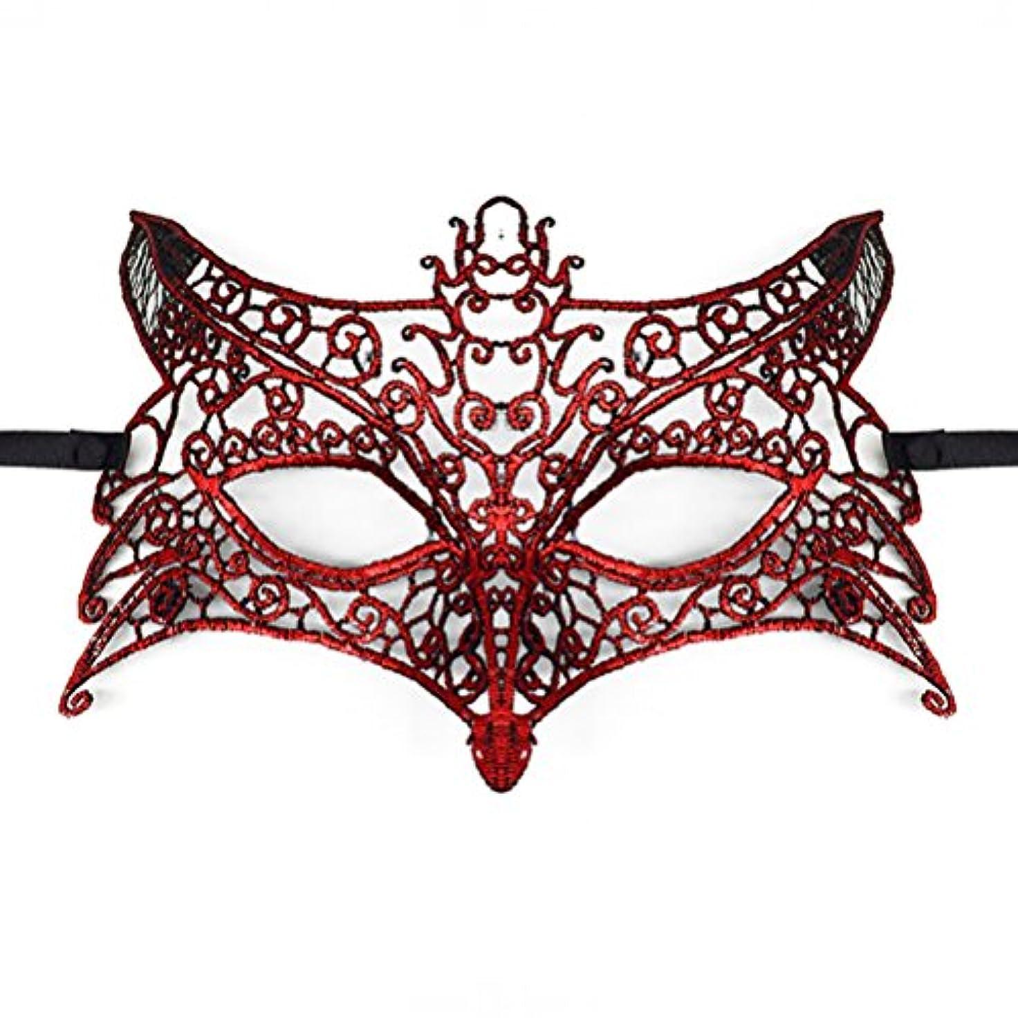 通貨結果反発Toyvian ハロウィーンパーティー用レースマスカレードマスク(ウルフヘッド)