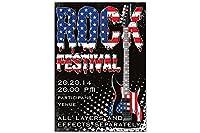 冷蔵庫用マグネット Fridge Magnet Kitchen Rock Festival
