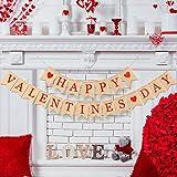Boao ハッピーバレンタインデー バナー バレンタインデー バンティング 写真用小道具 バレンタインデー ハートバナー バレンタインデー 窓 ドア装飾