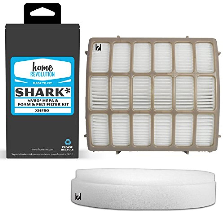 Sharkパーツ# xhf80、スタイルのxff80 Shark nv80モデル、Comparable HEPAフィルタ、Foam &フェルトフィルタ。AホームRevolutionブランド品質アフターマーケット交換用