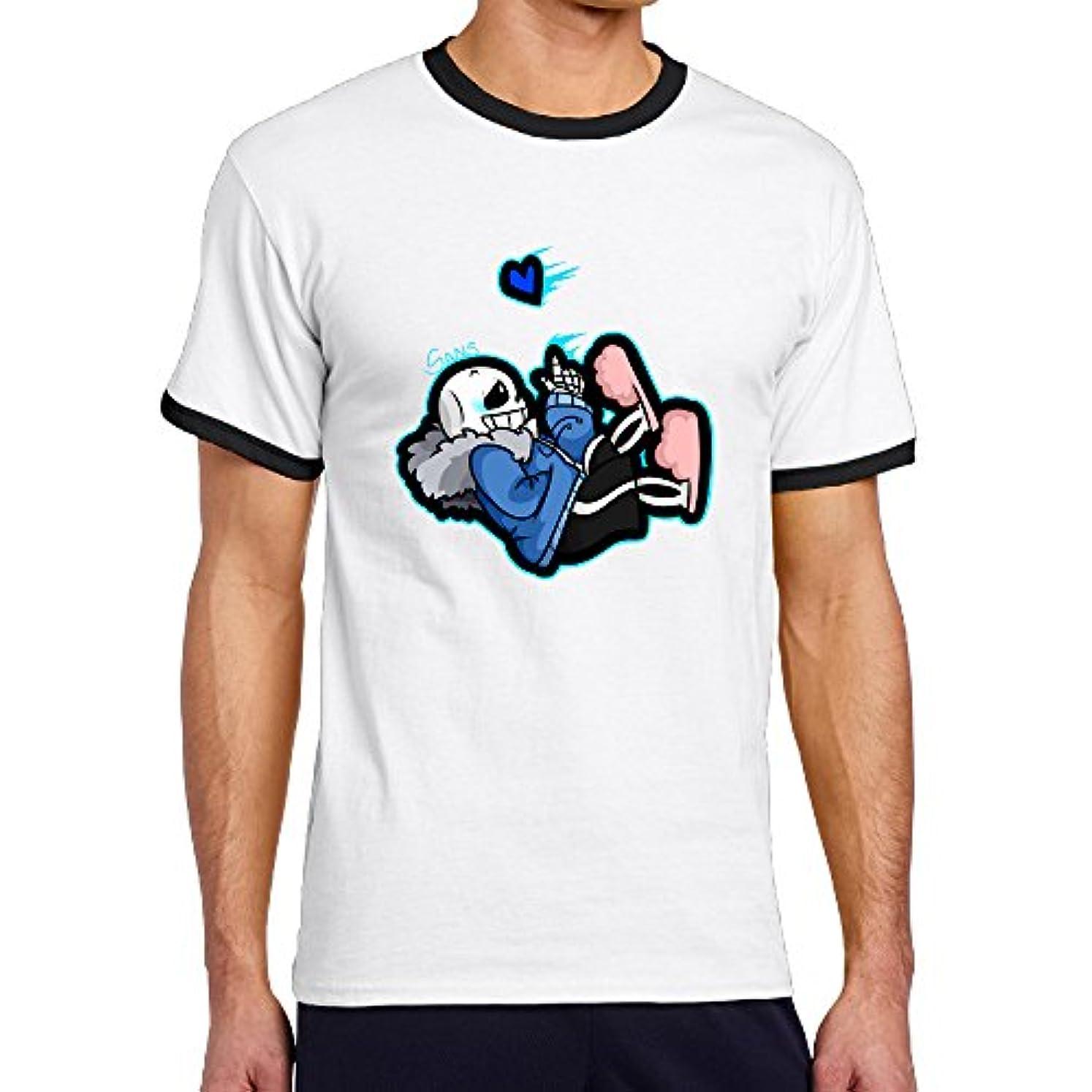 維持テンポバングラデシュAries メンズ リンガー Tシャツ 半袖 アンダーテール Undertale サンズ Sans ゲーム
