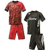アスレタ サッカーウェア 上下セット リバーシブル 02297 BLK/RED L