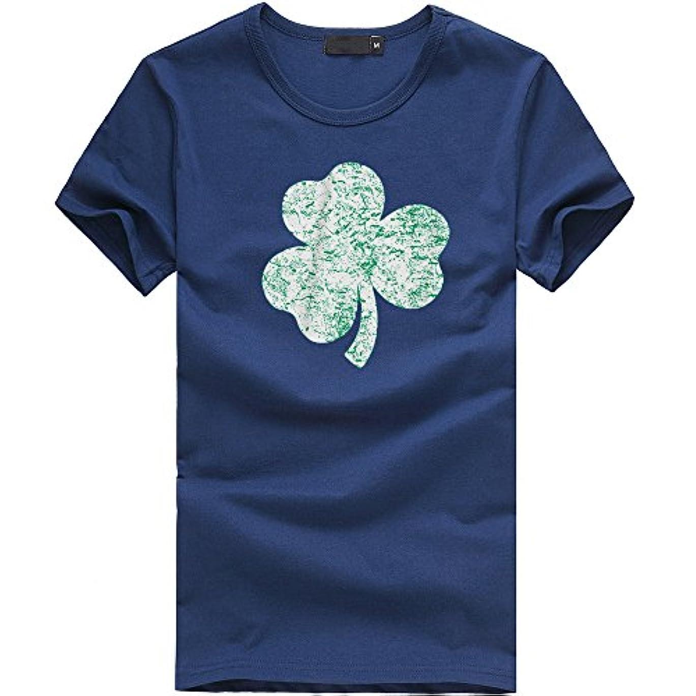 食欲粒天文学Racazing 半袖 Tシャツ 大きいサイズ メンズ 春夏 快適 人気 Tシャツ カジュアル 三葉草柄 多色 メンズ 薄手 かっこいい サイズ 吸汗速乾 ブラウス トップス ファッション 通勤 通学 通気性 プリント T-shirt for men