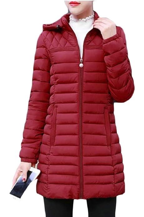 omniscient Women Long Thick Padded Hooded Down Coat Parka Puffer Jacket Outwear Overcoat