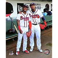 "Ozzie Albies &ロナルド・Acuna Atlanta Braves MLBアクション写真(サイズ: 8 "" x 10 "")"