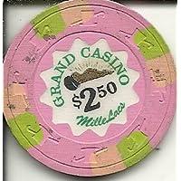 $ 2.50 GrandカジノチップピンクMille LacミネソタObsoleteヴィンテージ