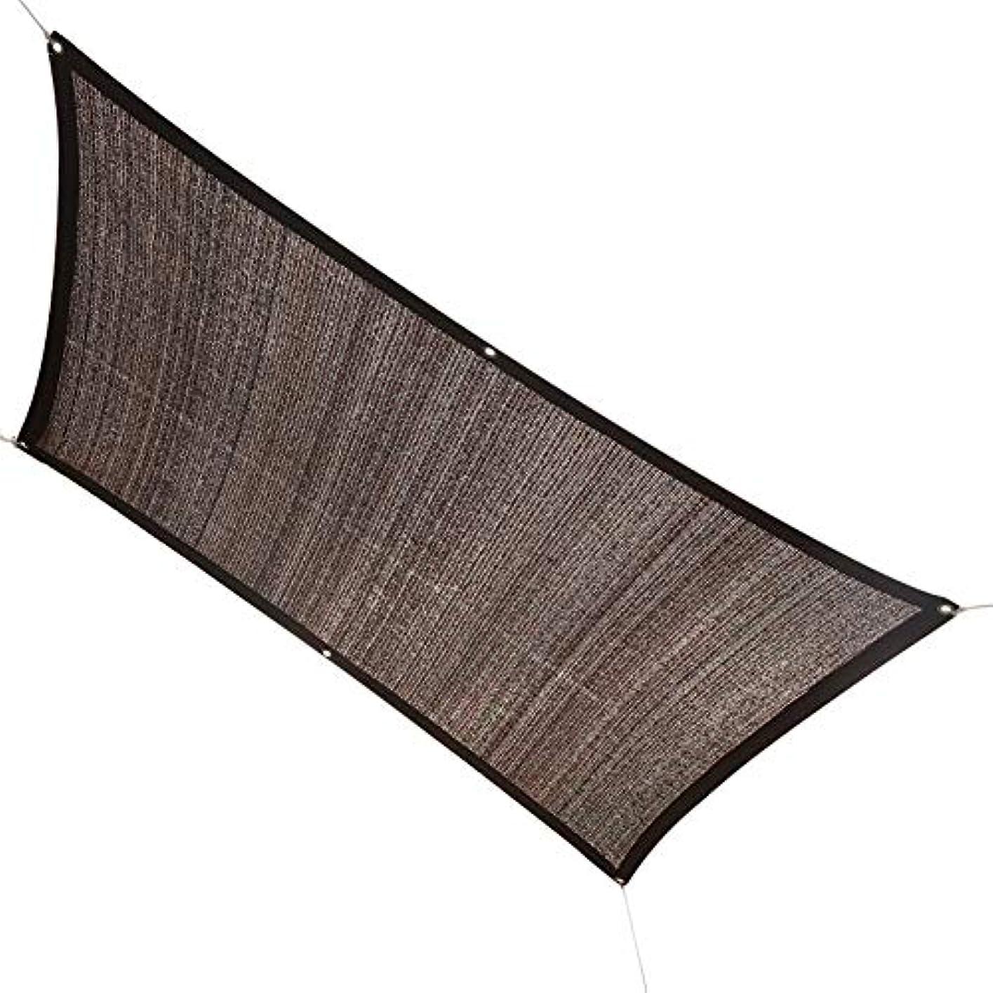 示す好み恋人SHIJINHAO シェードセイル オーニングシェード遮光ネット 温室 野菜 カバー 端 広がり 金属穴付き アウトドア ユニバーサルタイプ ポリエステル、18サイズ (Color : Brown, Size : 3x5m)