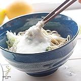 糸巻きお箸がついちゃった 冷やしとろろうどん そば 瑠璃色 丼 どんぶり 陶器 日本製