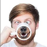 MITAO 豚の鼻 犬の鼻 おもしろい マグカップ 創意コップ コーヒーカップ ビールミルクマグ 3Dプリント面白くて目を引く セラミックス 男女兼用 プレゼントとして おしゃれ かわいい 人気 誕生日ギフト 犬の鼻