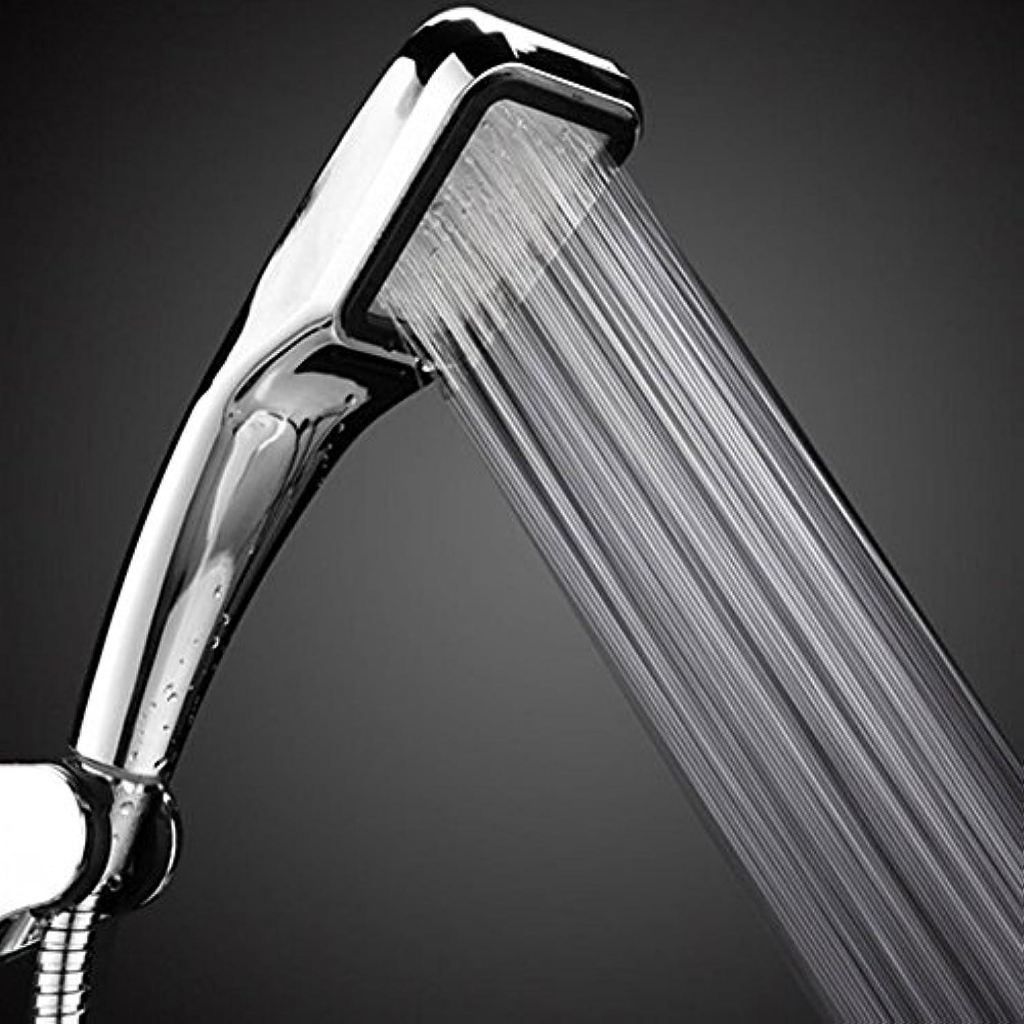 投票インチ効率365 Cor ( TM )ヘッド300穴水保存Square付きABSクロームメッキ浴室Rainfallシャワーノズルエアレーター高圧力シャワーヘッド