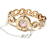 ANNE CLARK アンクラーク ピンクシェル 天然ダイヤ ハートブレス付 レディース腕時計 AT-1008-17PG [並行輸入品]
