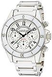 [ダニエル・ミューラー]DANIEL MULLER 腕時計 ステンレス&ホワイトセラミック クロノグラフ メンズウォッチ DM-1004WH ホワイト メンズ