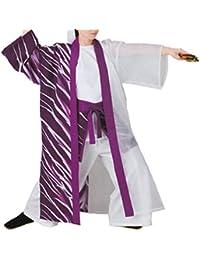 【よさこい衣装?袢纏?法被】おどり袢天 紫/白 B8540