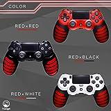 【7Gadget】 PS4 コントローラー DUALSHOCK4 PS4用 グリップ カバー & オリジナルアシストキャップ 並行輸入品 滑り止め シリコンカバー (レッド) 画像