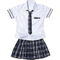 女子高生 ネクタイ付き コスチューム レディース フリーサイズ