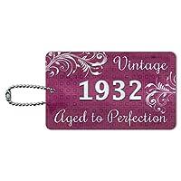 ピンクビンテージパーフェクション1932年に高齢者 IDカード荷物タグ