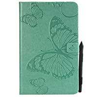 (For Samsung Galaxy Tab E 9.6 T560 (Not Fit 4G LTE)) Flip Wallet Case Cover and 360 Degree Full Body Protective Bumper Cover, Premium ウォレットケース Material - Green