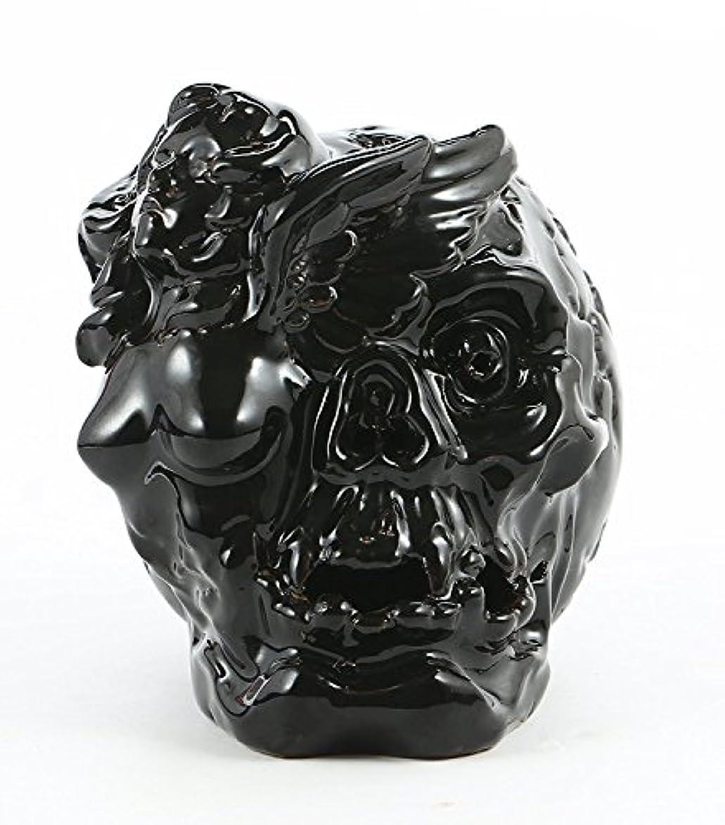 カップル首謀者ファンシーAngel with Skull Backflowセラミック香炉アロマセラピーホームDecor 10 Incense Cones