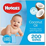 HUGGIES Coconut Baby Wipes, 200 Wipes Refill Pack