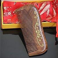 MXIKUCCY サンダルウッドヘアコブ - 様々なスタイリストハウスデンシズ歯ブラシヘビースタイリングヘアーブラシ、ギフトボックス付き (Design : I)